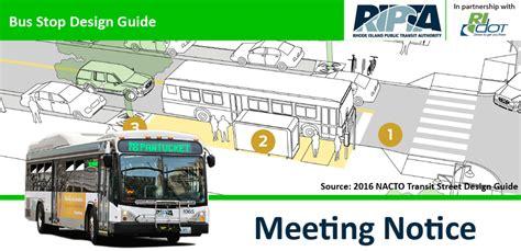 design guidelines for bus stops ripta bus stop design guide public meetings june 9 15