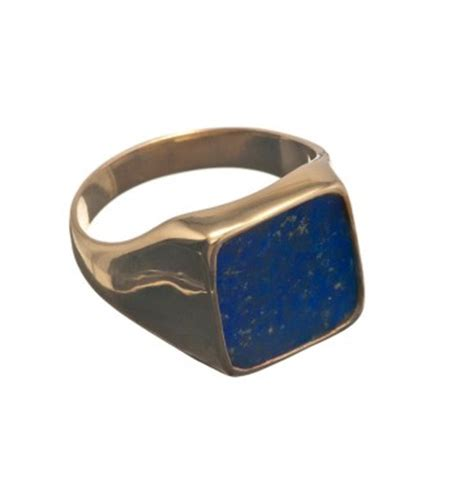 lapis lazuli gold plated sterling silver square gemstone