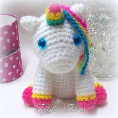 amigurumi unicornio tejidos thina unicornio amigurumi patr 211 n gratis