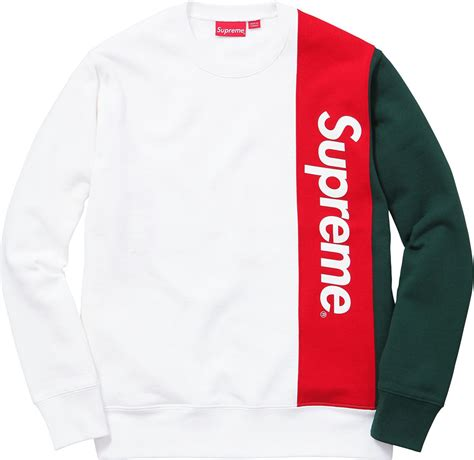 supreme uk clothing supreme panelled crewneck summer 2016 essentials