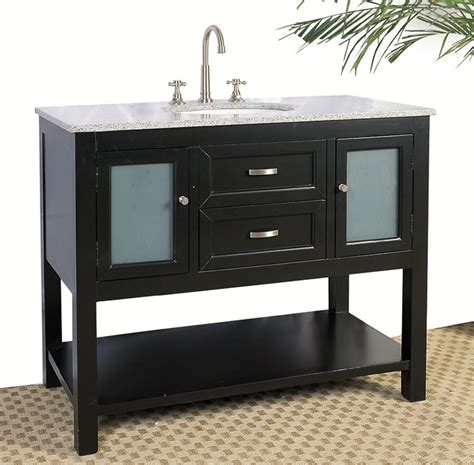 42 bath vanity cabinet 42 inch bathroom vanity with glass cabinet in bathroom