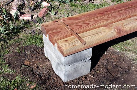 diy concrete bench homemade modern ep57 outdoor concrete bench