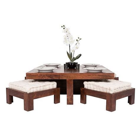 Dakota Coffee Table And Four Ottoman Stools by Best 25 Wood Coffee Table Ideas On