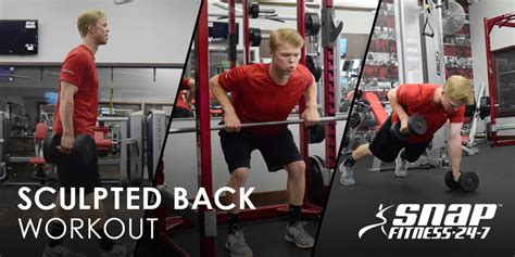 snap fitness bench press sculpted back workout