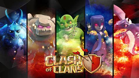 wallpaper coc dark clash of clans wallpaper heroes units city wallpaper