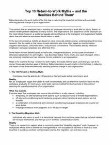 sle resume returning to work resume template exle