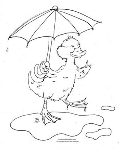 coloring page duck with umbrella jemima puddle duck coloring pages coloring pages