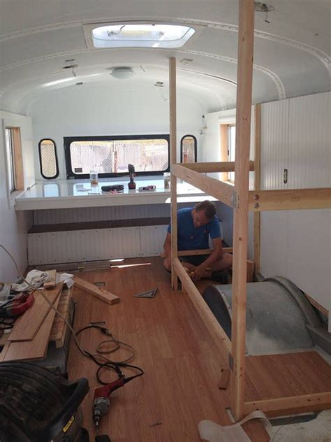 tiny house bus old bus converted into awesome tiny house for family of 6 off grid world