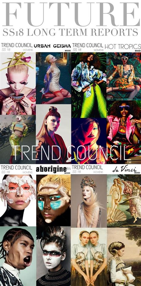 the trend book focuses of the trend forecasting for autumn trends trend council womens and mens ss 2018