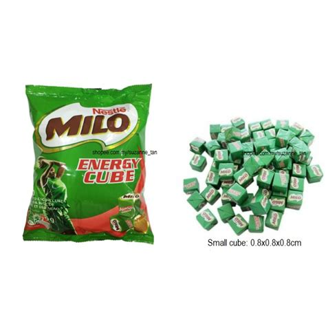 Milo Cube 100pcs 15 nestle milo cube 100pcs with free gift shopee
