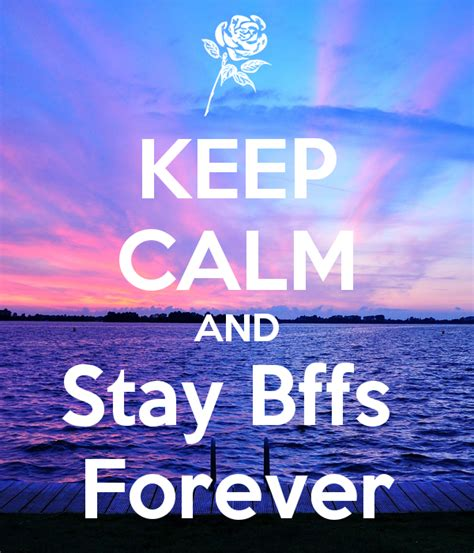 Children Wall Stickers keep calm and stay bffs forever poster milica keep