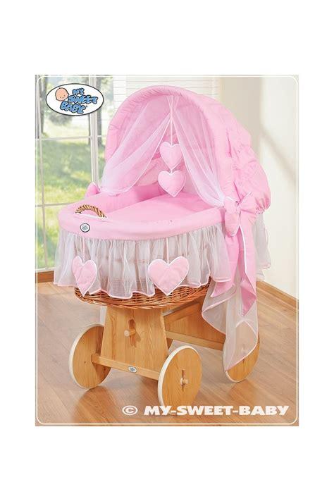 culla neonata culla vimini neonato cuori rosa