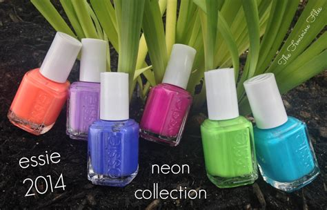 2014 essie neon swatches essie 2014 neon collection swatches review the