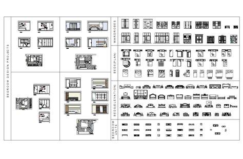 Bedroom furniture CAD block collection   CADblocksfree