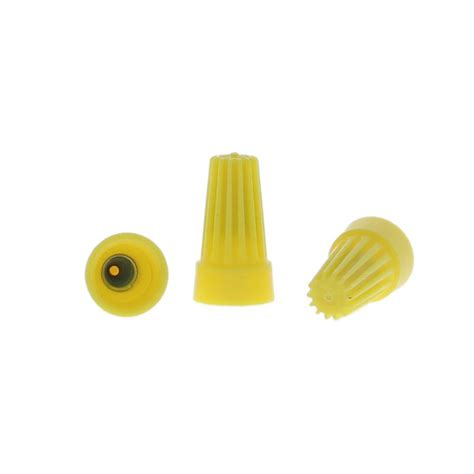commercial electric wire connectors yellow 25 pack
