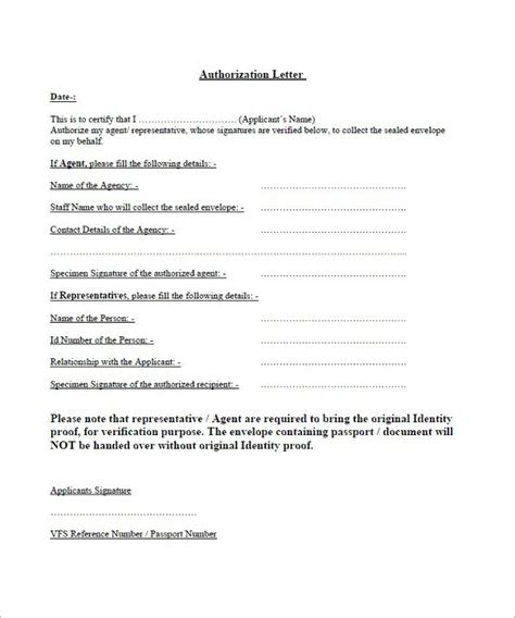 authorization letter format for registration 40 authorization letter sle templates free pdf word