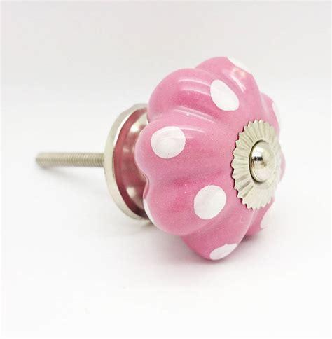 Polka Dot Knobs by Pink Polka Dot Cupboard Door Knob Drawer Handle Pull By