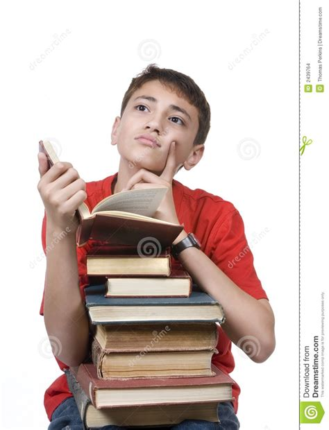 Boy By boy reading stock images image 2439764