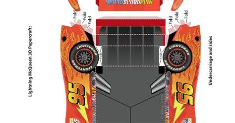 Lightning Mcqueen Papercraft - pixar cars 2 lightning mcqueen 3d papercraft