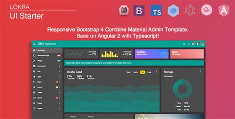 angular templating lokra angular 4 admin template with bootstrap 4 and