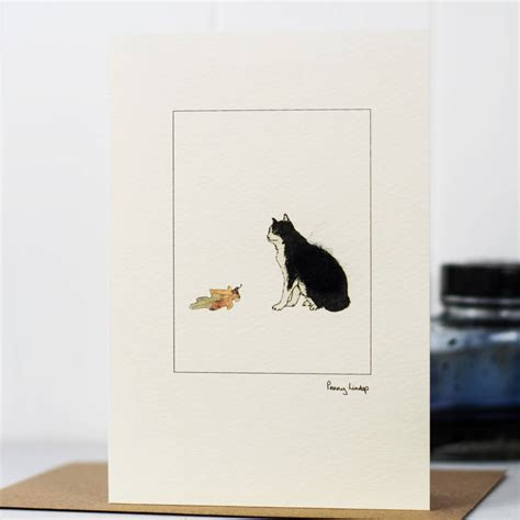 Handmade Cat Cards - handmade cat cards by lindop designs