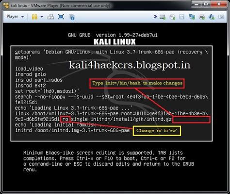 reset windows password kali linux kali for hackers how to reset root password