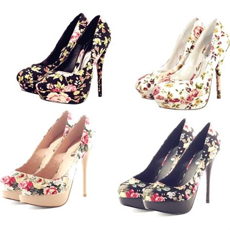 flower print high heels luxurious floral print high heels heelsfans