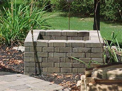 pit made out of pavers raised pit made with patio pavers progressive
