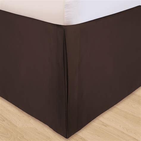 adjustable bed skirt solid microfiber 3 piece adjustable bed skirt walmart com