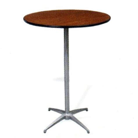 high top table rentals table cocktail pedestal 30 inch 42 inch high plywood top