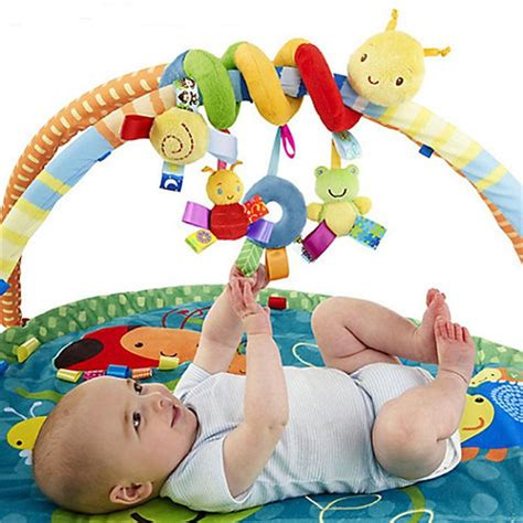Kidsme Rattle Baby Worm T2909 2 3m plush baby rattle toys mobile crib stroller car bed worm caterpillar juguetes bebes jouet