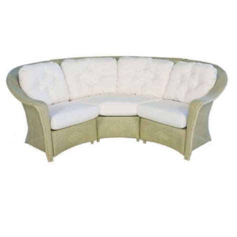 traditional curved sofa lloyd flanders wicker furniture reflections sectional