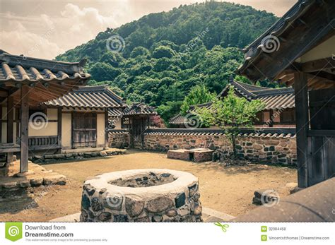 House Plans With Courtyard traditional asian village royalty free stock photos