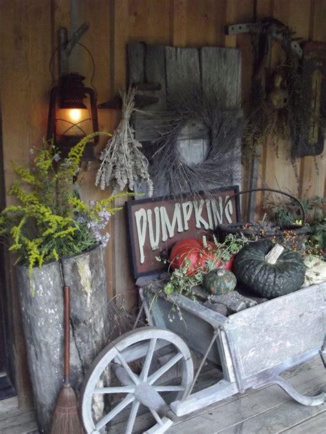 fall primitive decor primitive fall porch autumn