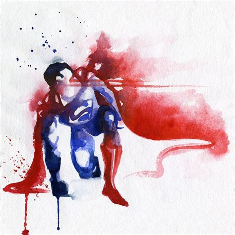 superman painting blule where big color splashes become clever