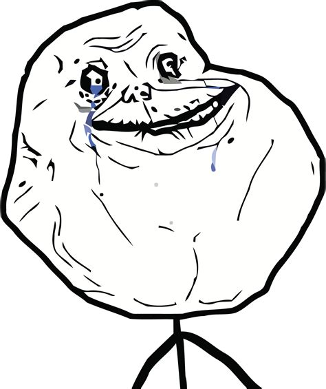 Sad Meme Face - forever alone rage faces pinterest sad meme and
