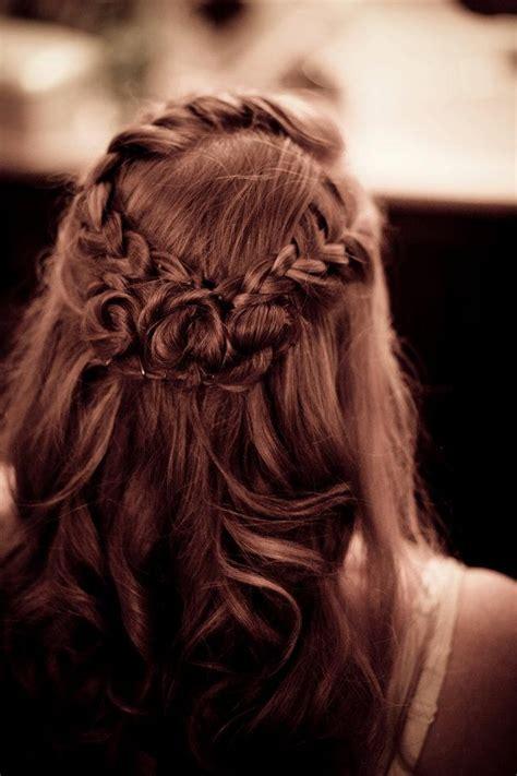 rose hairstyle half up half down wedding bride s hair design by little sister raina
