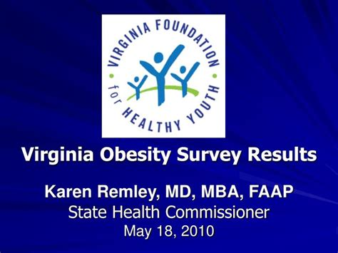 Sv Mba Results 2010 by Ppt Virginia Obesity Survey Results Remley Md