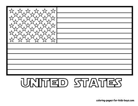 flag coloring pages free large images