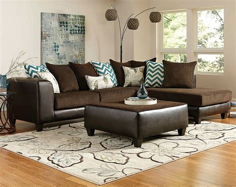 living room brown sofa brown wrap around reggae vibes two sectional