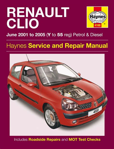 automotive maintenance light repair books haynes 4168 workshop repair manual renault clio petrol