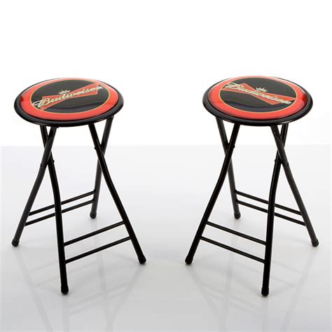 Folding Stool 24 Inch by Beverage Branded Padded Barstools