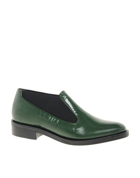 slip on flat shoes opening ceremony green slip on flat shoes in green