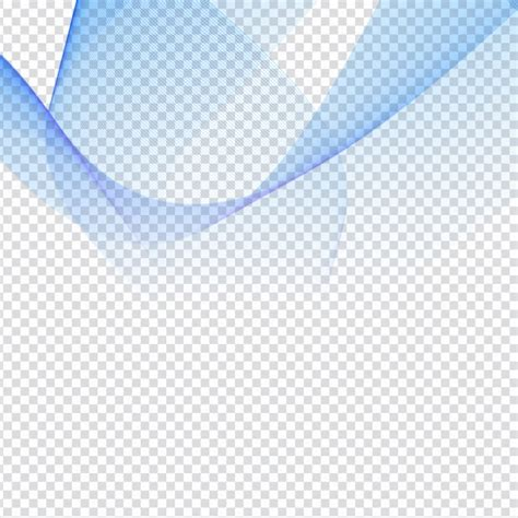 Abstract blue waves on transparent background Vector