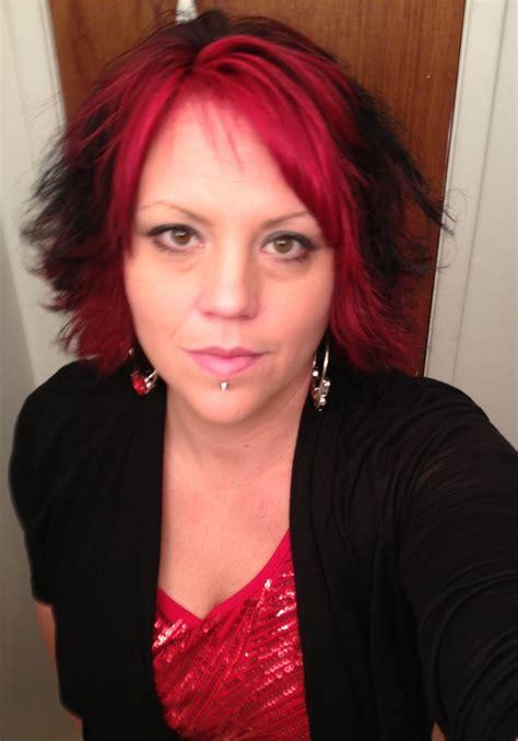 crimson obsession on dark brown hair splat hair dye hair pinterest splat hair dye hair