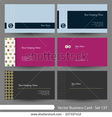 Vector Pattern 137 Free Vector 4vector Japanese Business Card Template