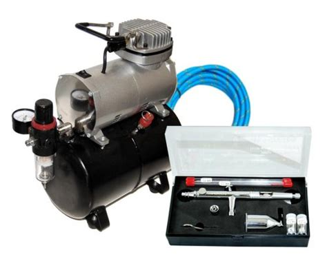 Masker Airbrush master airbrush sb88 pro set with tc 20 t air compressor with tank packaging may vary