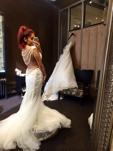 snooki wedding snooki shares wedding gown pic has she found her dress