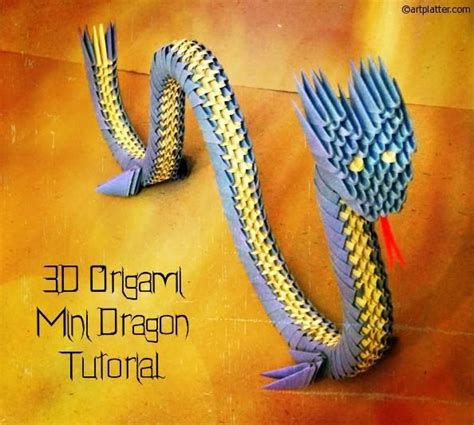 origami 3d dragon tutorial español diy arts crafts diy 3d origami dragon tutorial diy