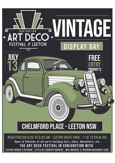 art deco festival vintage car display shannons club